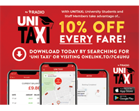 Download the Radio Taxi Uni Taxi App for 10% Off Every Fare for Solent Students